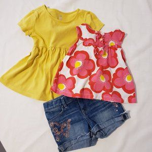 Baby Gap and Carter's Summer Outfits Sz 24 Months